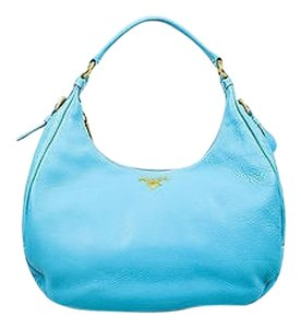 Prada Pebbled Leather Hobo Bag