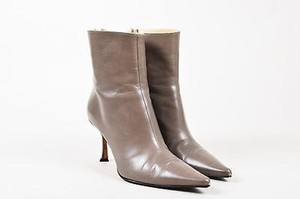 Jimmy Choo Leather Taupe Boots