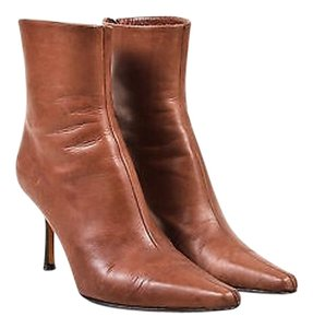 Jimmy Choo Chestnut Leather Brown Boots