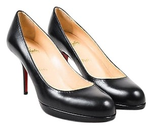 Christian Louboutin New Simple 85 Leather Almond Toe Black Pumps
