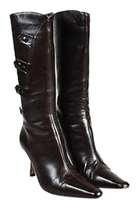 Jimmy Choo Leather Brown Boots