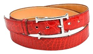 Hermès Crocodile Porosus Leather 24mm Belt