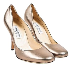 Jimmy Choo Leather Pewter Pumps