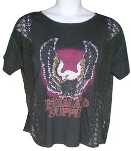 Denim & Supply Lace Print Eagle Ralph Lauren 80's T Shirt