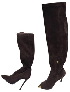 Baldan Suede Tall brown/gold tip Boots