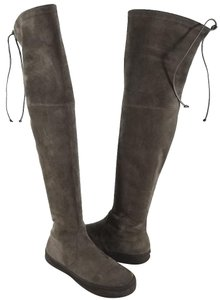 Stuart Weitzman Leather Lining Brown Suede Boots