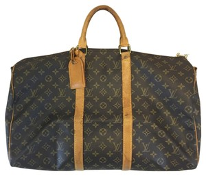 Louis Vuitton Bandouliere Travel Luggage Brown Travel Bag