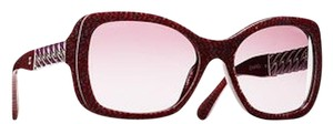 Chanel 5305 Square Chain Link Quilted CC Logo Wayfarer Classic Tweed Red
