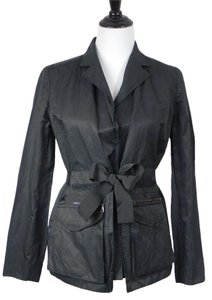 T Tahari Lined Nylon Black Jacket