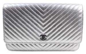 Chanel Woc Wallet On Chain Chevron Shoulder Bag