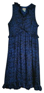 Plenty by Tracy Reese short dress Blue Sleeveless V Neck Knee on Tradesy