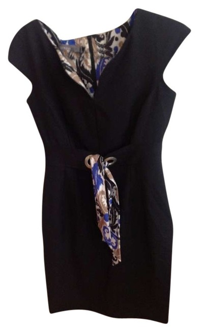 Preload https://item2.tradesy.com/images/donna-ricco-black-with-colored-details-belt-workoffice-knee-length-workoffice-dress-size-petite-6-s-200461-0-0.jpg?width=400&height=650