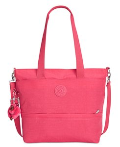Kipling Floral Flower Print Bloom Satchel in Vibrant Pink