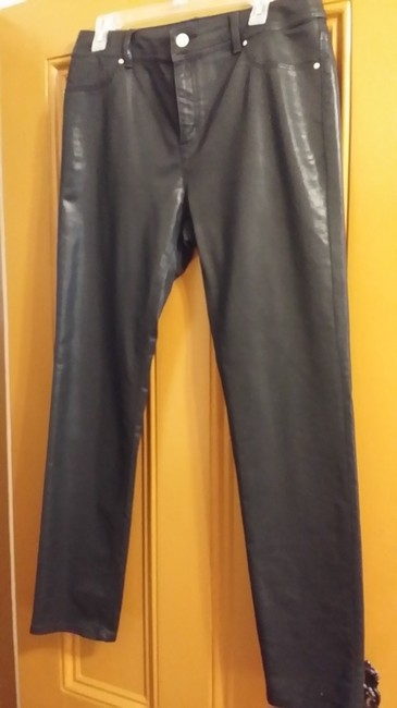 Item - Black Coated 1.5 Platinum Jeggings In Straight Leg Jeans Size 33 (10, M)