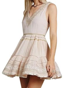 Free People Bohemian Embroidered Maxi Cocktail Fit And Flare Dress