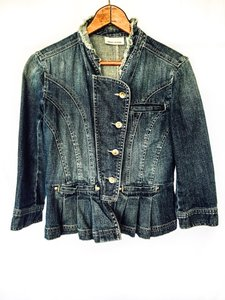 DKNY DKNY Frilled tailored Short Denim Jacket ANGELINGSvintage item#20