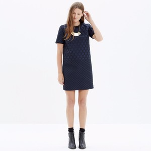 Madewell short dress Navy Blue Black Shift Polka Dot on Tradesy