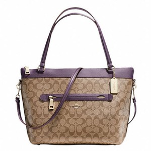 Coach Cora Domed Purse Satchel in purple