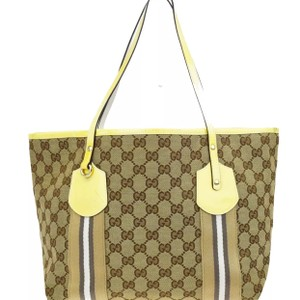 Gucci Tote in Yellow Brown Beige