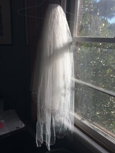David's Bridal David's Bridal 2-tier Veil With Crystal And Pearl Edging