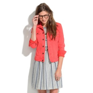 Madewell Coral Womens Jean Jacket