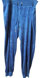Calvin Klein Velour Sweatpants Plus-size Logo New With Tags Baggy Pants Navy Blue