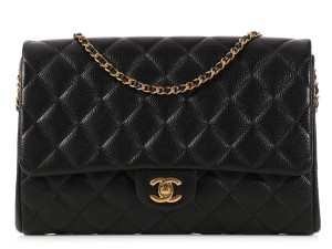 Chanel Chain Quilted Ch.k1019.04 Ghw Clutch