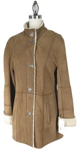 Audrey Talbott Shearling Leather Coat