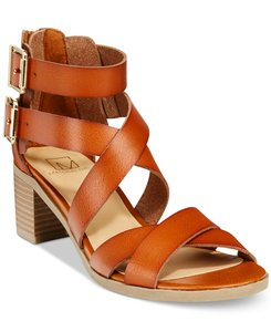 Material Girl Strappy Brown Sandals