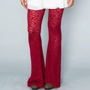 Show Me Your Mumu Flare Pants Red