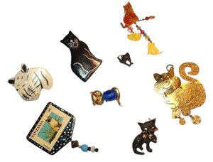 Other The Crazy Cat Lady 7 Pc. Pin Brooch Collection ll Inv3001
