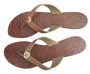 Tory Burch Tan and gold Sandals