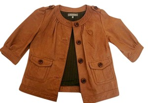 MM Couture Leather Tan Leather Jacket