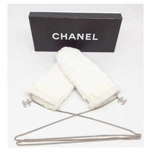 Chanel Rabbit Fur Mittens with Chain