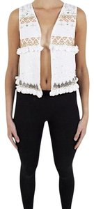 Mes Demoiselles Bohemian Festival Coin Embellished Chic Classic High Low Vest