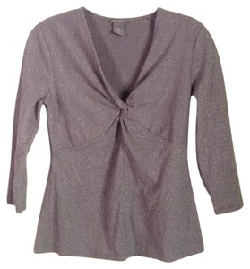 Ann Taylor Top Gray & silver