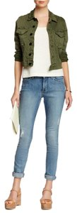 NYDJ Distressed Ankle Cuffed Skinny Jeans-Distressed