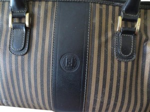 Fendi Boston Doctor Satchel in black tan