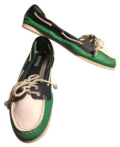 Sperry Green/Navy/White Flats