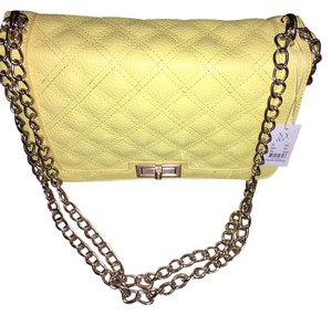 New York & Company Satchel in Yellow