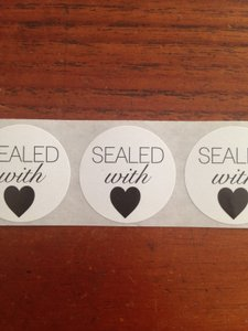 Sealed With Love Wedding Stickers