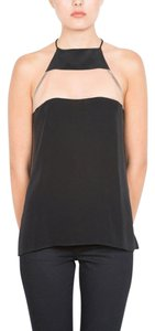Cami NYC Date Night Classic Silk Chic Top Black