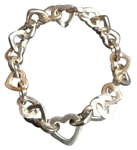 Sterling Hearts bracelet Sterling interlocking Heart Bracelet