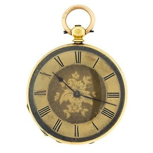 D&D 18K Yellow Gold Winder Movement Vintage Pocket Watch (5348)