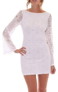 Nightcap short dress White Cocktail Lace Long Sleeve on Tradesy