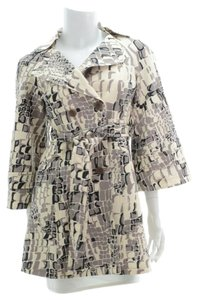 Nanette Lepore Animal Print Trench Coat