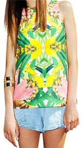 Finders Keepers Steal The Light Boho Festival Chic Australia Colorful Summer Spring Keyhole Back Classy Top Multi