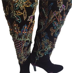 Roberto Cavalli Rich eggplant color on the velvet Boots