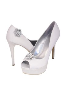 Pair Of Crystal Rhinestone Shoe Clip Ons