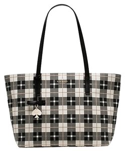 Kate Spade New With Tags Tote in Black, White & Beige